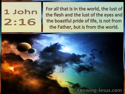 1 John  2-16 The Lust Of The Flesh, The Lust Of The Eye The Pride Of Life (brown)