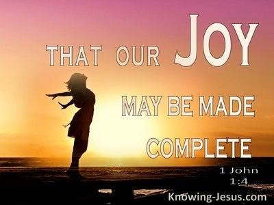 1 John 1:4 These Thing We Write To Complete Your Joy (pink)