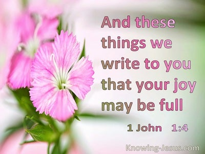 1 John 1:4 These Things We Weite So Our Joy May Be Complete (green)