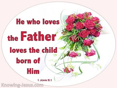 1 John 5:1 A Child Of God (red)