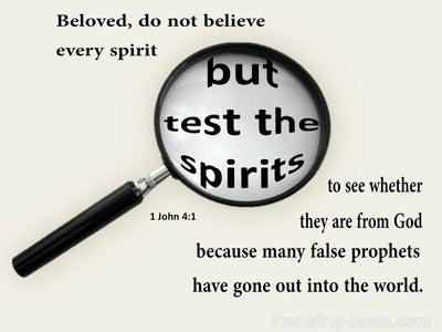 1 John 4:1 Test The Spirits (beige)