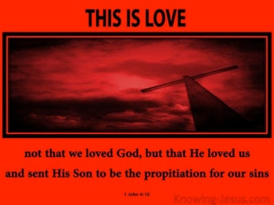 1 John 4:10 This Is Love (red)