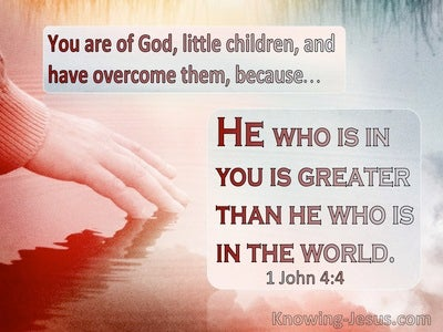 1 John 4:4 He Who Is Greater Than He Who Is In The World (pink)
