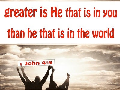 1 John 4:4 Greater Us He In You Than He In The World (red)