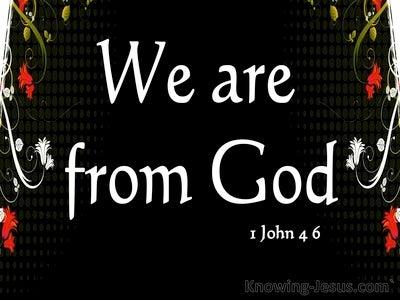 1 John 4:6 Spirit Of Truth And Spirit Of Error (white)