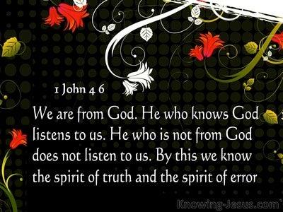 1 John 4:6 Spirit Of Truth And Spirit Of Error (gray)