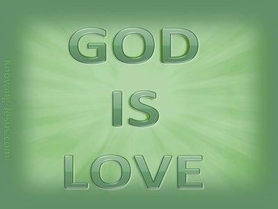 1 John 4:8 God is Love (green)