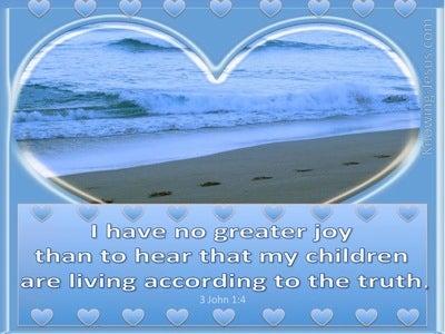 3 John 1:4 No Greater Joy (blue)