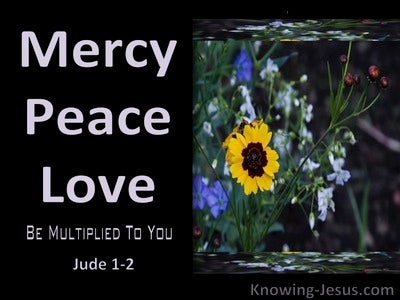 Jude 1:2 Mercy Peace And Love Be Multiplied (black)