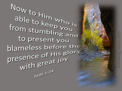 Jude 1:24 He Is Able To Keep You From Stumbling (gray)