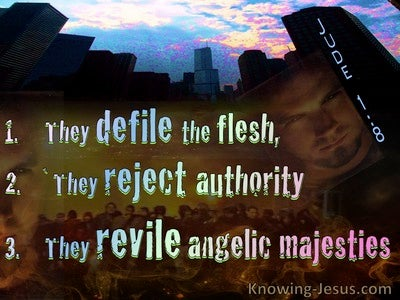 Jude 1:8 They Defile The Flesh and Reject Authority (blue)