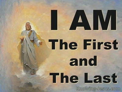Revelation 1:17 The First and Last (yellow)
