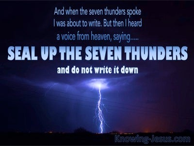 Revelation 10:4 Seal Up The Seven Thunders (blue)