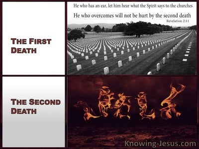 Revelation 2:11 THe Second Death (white)