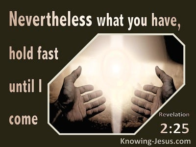 Revelation 2:25 Hold Fast Until I Come (brown)