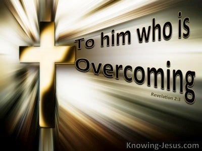 Revelation 2:3 To Him Who Is Overcoming (devotional)11-25 (gold)
