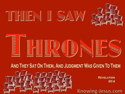 Revelation 20:4 The Souls Of Those Beheaded For Their Testimony (red)