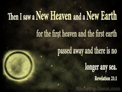 Revelation 21:1 Then I Saw A New Heaven And A New Earth (gold)