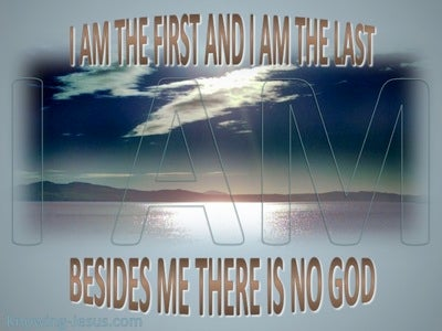 Revelation 22:13 The First and Last (gray)
