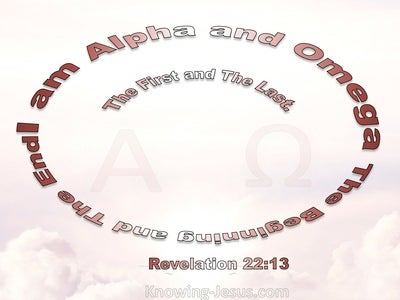 Revelation 22:13 Jesus Said I Am Alpha And Omega (pink)