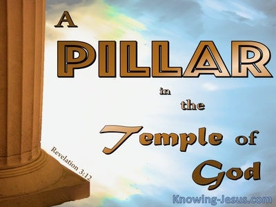 Revelation 3:12 A Pillar In The Temple Of God (brown)