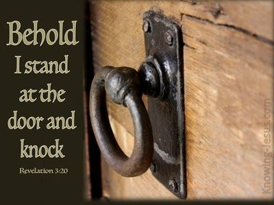 Revelation 3:20 I Stand at the Door and Knock (brown)