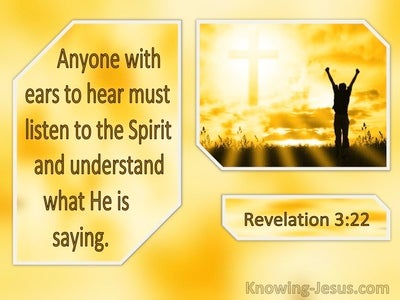Revelation 3:22 Anyone With Ears Must Listen To The Spirit (windows)01:20