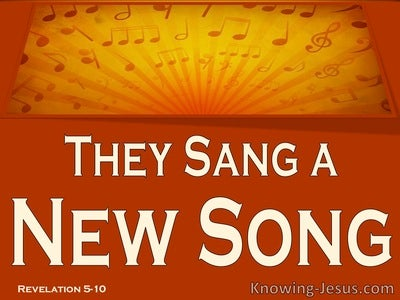Revelation 5:10 They Sang A New Song (brown)