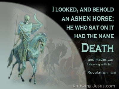Revelation 6:8 Behold An Ashen Horse (black)