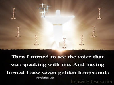 Revelation 1:12 Seven Golden Lampstands (brown)