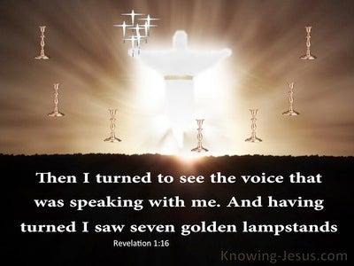 Revelation 1:12 Seven Golden Lampstands (brown)