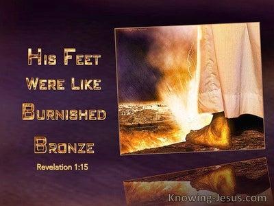 Revelation 1:15 His Feet Were Like Burnished Bronze (gold)