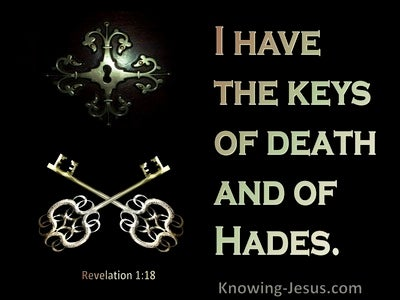 Revelation 1:18 The Keys Of Death And Hades (gold)
