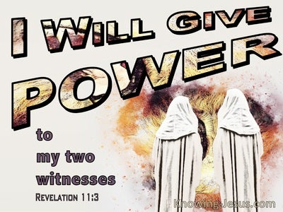 Revelation 11:3 Power To My Two Witnesses (beige)