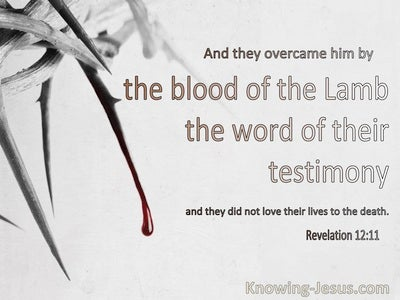 Revelation 12:11The Blood Of The Lamb And Word Of Their Testimony (gray)