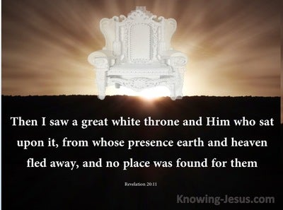 Revelation 20:11 Then I Saw A  Great White Throne (brown)