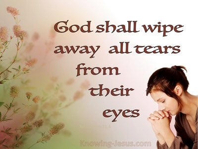 Revelation 21:4 God Shall Wipe Away All Tears From Their Eyes (pink)