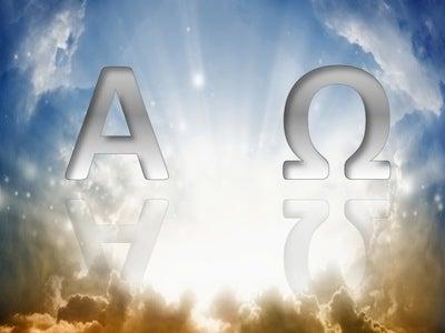 Revelation 22:13 Alpha And Omega (white)