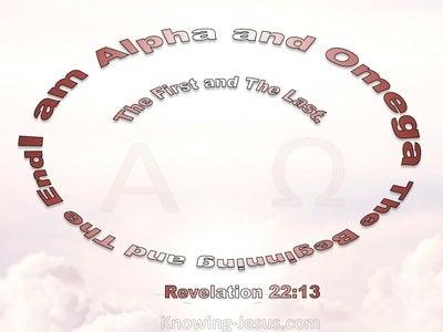 Revelation 22:13 Jesus Said I Am Alpha And Omega (pink)