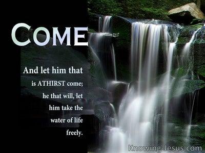Revelation 22:17 He Waits For You (black)