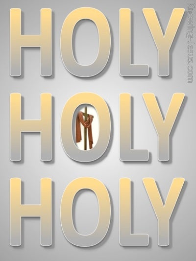 Revelation 4:8 Holy, Holy, Holy (yellow)