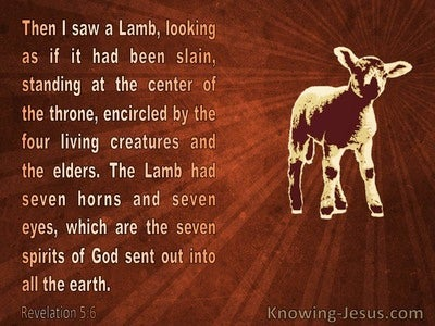 Revelation 5:6 Then I Saw A Lamb (brown)