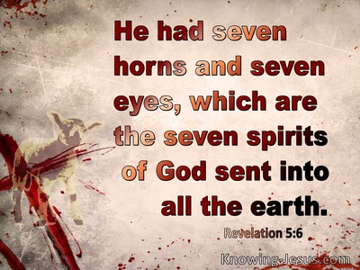 Revelation 5:6 Then I saw a Lamb (maroon)