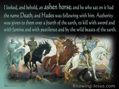 Revelation 6:8 Behold An Ashen Horse (sage)