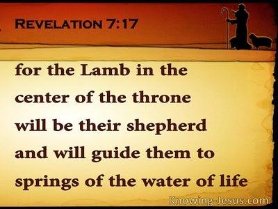 Revelation 7:17 He WIll Be Their Shepherd (yellow)