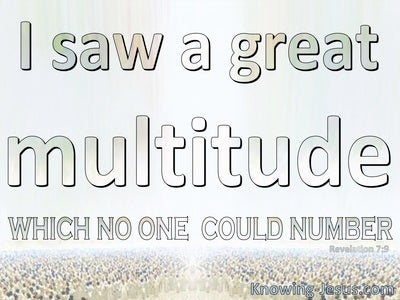 Revelation 7:9 A Great Multitude Which No One Could Number (beige)