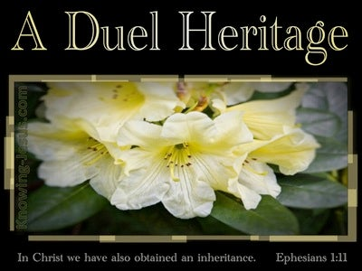 Ephesians 1:11 In Christ We Have Gained An Eternal Inheritance (beige)