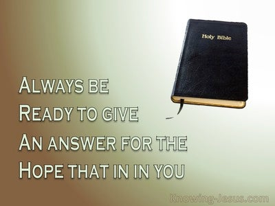 1 Peter 3:15 Always Be Ready To Give An Answer (devotional) (beige)