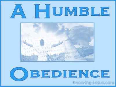 A Humble Obedience (devotional) (blue)