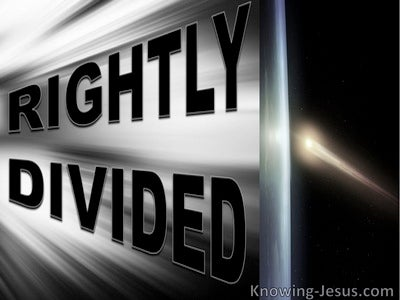 A Rightly Divided Creation (devotional)